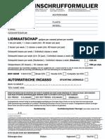 Inschrijf Formulier 2018 (Onbeperkt)