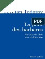 Todorov Tzvetan la Peur Des Barbares