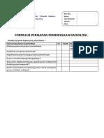 Formulir Persiapan Pemeriksaan Radiologi
