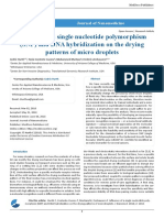 Influence of a Single Nucleotide Polymorphism (SNP) and DNA Hybridization on the Drying Patterns of Micro Droplets