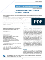 Genome Size Estimation of Chinese Cultured Artemisia Annua l
