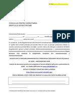 Kit Gdpr Formular de Solicitare Rectificare Date Din Baza de Date de Catre Subiect