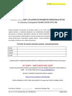 Kit Gdpr Declaratie Acceptare Politcia Operativa privind Scuritatea echipamentelor personale Byod