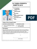 Kartu Pendaftaran SNMPTN 2018 4180522893