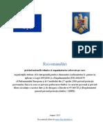 Masuri Tehnice Si Organizatorice pentru conformare la GDPR si Legea 190/2018 - versiune 22,07,2019