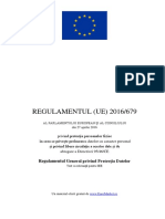 Text Original Cu Cuprins - Regulament European 679 Din 2016 - GDPR