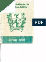 Lei Orgânica Do Município de Nossa Senhora Da Glória 1989