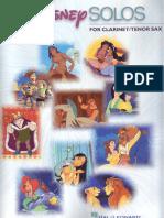 Disney Solos Para Clarinete y Saxo Tenor - Partituras y Audio