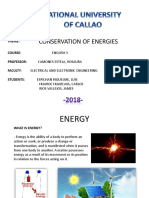 Conservation of Energies