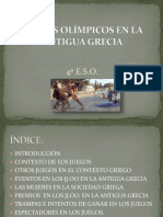 JUEGOS OLÍMPICOS EN LA ANTIGUA GRECIA.