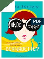 Maria Semple - Unde ai disparut, Bernadette (v.1.0).docx