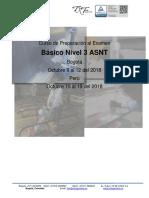 Septiembre 2018 - Curso ASNT Basic L3