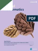 A-Level Mathematics - Pearson Edexcel Level 3 Advanced GCE in Mathematics (9MA0)