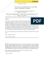 The Association Between Dividend Payout and Firm Growth (Australian Evidence)
