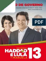 Plano de Governo PT 2018