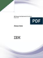 IBM Storage HAK 2.6.0 Solaris RN