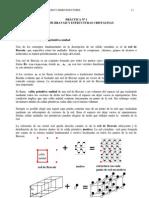 Redes de Bravais y Estructuras Cristalinas