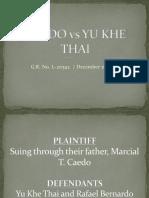 Caedo vs Yu Khe Thai