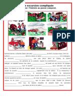 Une Excursion Compliquee Passe Compose Exercice Grammatical Feuille Dexercices Unaun Ment 105955(1)
