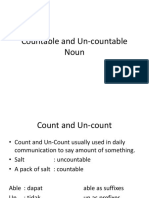Countable and Un-countable Noun