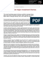Finding New Major Investment Themes
