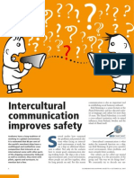 Intercultural communication improves safety