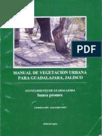 Manual de vegetación urbana para Guadajalara Jalisco