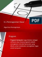 Materi Pemrograman Dasar 1.1 Algoritma Pemrograman.pptx