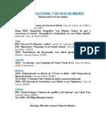 Agenda cultural y de ocio de Mieres. Semana del 8 al 14 de octubre