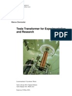 Tesla Transformers - Experimentation and Research