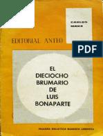 Marx, El Dieciocho Brumario de Luis Bonaparte