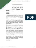 Obama diz que Lula é <o político mais popular da Terra> (02-04-2009) artigo UOL Economia