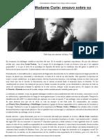 Curie – Desmontando a Madame Curie; Ensayo Sobre Su Leyenda