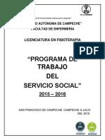 Programa de Trabajo Del Servicio Social