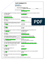 First Mock Exam (Aircraft Propulsion) Answer Key