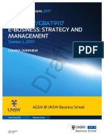MBAX9117 GBAT9117 E-Business Strategy and Management S12017