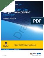 MBAX9101 GBAT9101 Project Management S12017 (1)