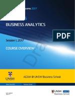 MBAX9135 Business Analytics S12017