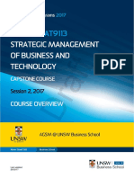 MBAXGBAT 9113 Strategic Mngt of Business and Technology S22017