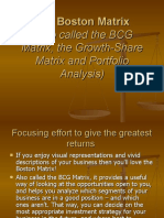 The Boston Matrix PPT