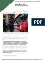 Em Meio à Crise, Argentinos Lotam Restaurantes Do Governo e Retomam Clubes de Troca - Notícias - Internacional