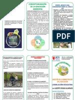 Triptico de Derecho y Educacion Ambiental