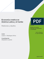 Economia Creativa en America Latina y El Caribe Mediciones y Desafios