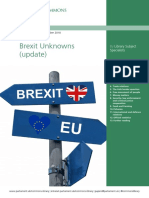 House of Commons Library - Brexit Unknowns