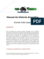 Lopez, Vicente Fidel - Manual de Historia Argentina