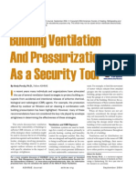 Building Ventilation and Pressurization as a Security Tool