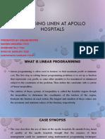 Managing Linen at Apollo Hospitals