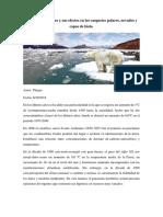 El Cambio Climático y Sus Efectos en Los Casquetes Polares