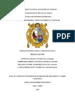 Información Florística, Fáunica y Climatica de La Sierra