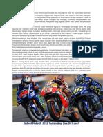Jadwal MotoGP 2018 Terlengkap Live Di Trans7